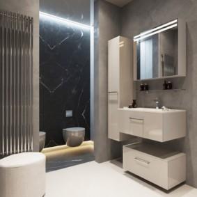 зеркальный шкаф в ванную дизайн