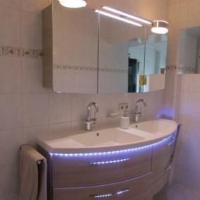 зеркальный шкаф в ванную дизайн фото