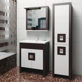 зеркальный шкаф в ванную дизайн идеи