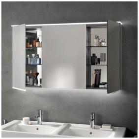 зеркальный шкаф в ванную фото