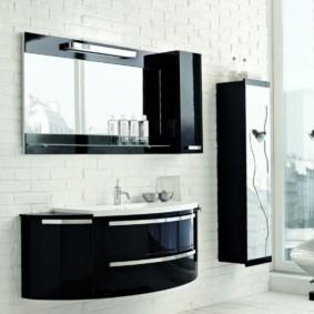 зеркальный шкаф в ванную фото декора
