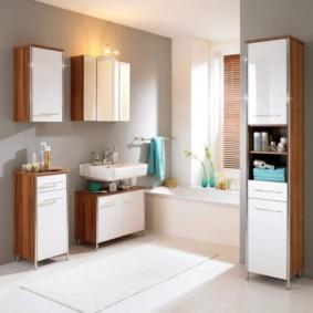 зеркальный шкаф в ванную фото дизайн