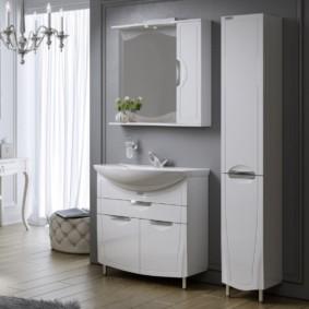 зеркальный шкаф в ванную фото дизайна