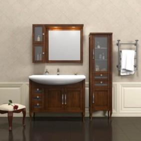 зеркальный шкаф в ванную фото оформление