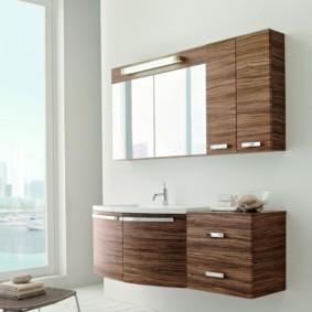 зеркальный шкаф в ванную фото вариантов