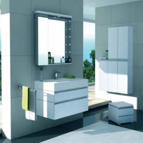 зеркальный шкаф в ванную фото видов