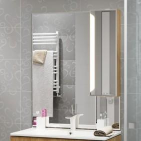 зеркальный шкаф в ванную фото виды