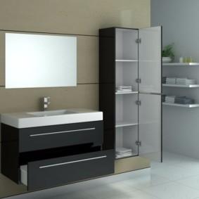 зеркальный шкаф в ванную идеи