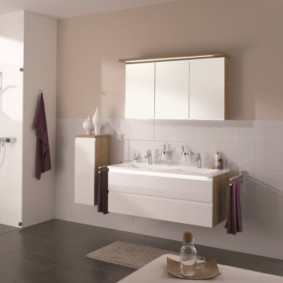 зеркальный шкаф в ванную идеи дизайн