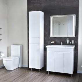зеркальный шкаф в ванную идеи интерьера