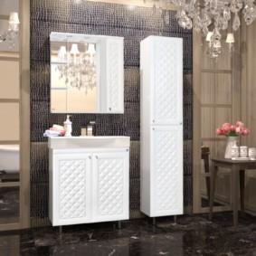 зеркальный шкаф в ванную идеи оформление