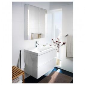 зеркальный шкаф в ванную идеи виды