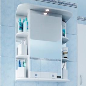 зеркальный шкаф в ванную оформление идеи