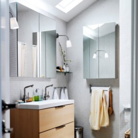 зеркальный шкаф в ванную варианты фото