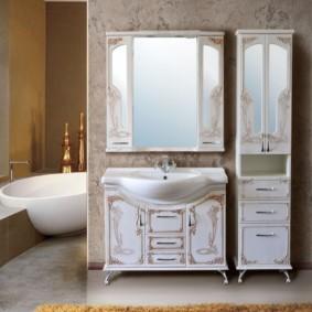 зеркальный шкаф в ванную варианты идеи