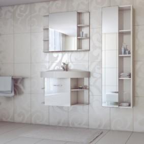 зеркальный шкаф в ванную виды идеи