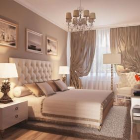спальня 10 кв метров в строгом стиле