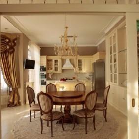 классический дизайн кухни столовой