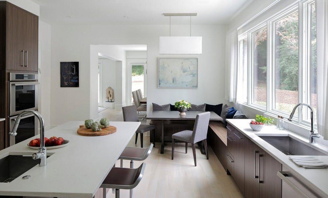 дизайн кухни столовой планировка