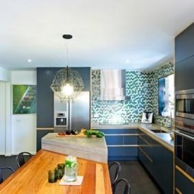 дизайн кухни столовой идеи интерьера