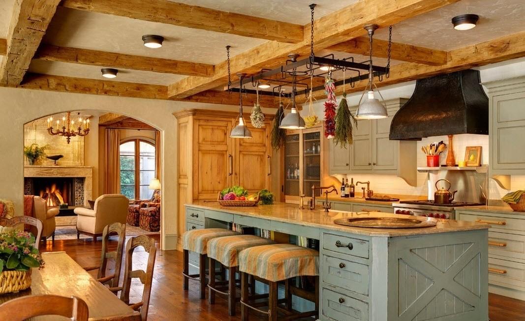 дизайн кухни столовой зонирование