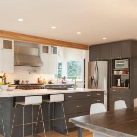дизайн кухни столовой интерьер