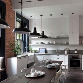 дизайн кухни столовой проект