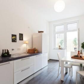 дизайн кухни столовой просторный