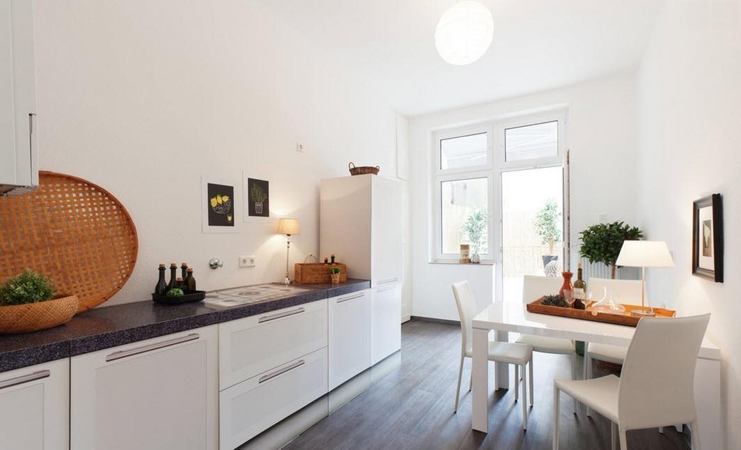 кухонные гарнитуры без навесных шкафов фотографии только срок