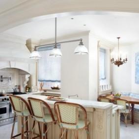 интерьер и дизайн кухни столовой