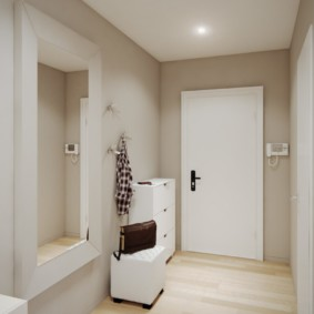 длинный коридор в квартире минимализм