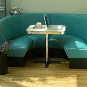 полукруглый диван кушетка для кухни