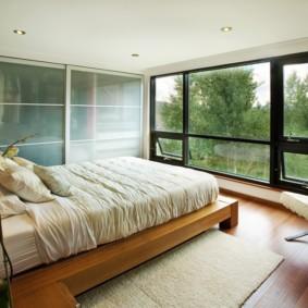 встроенный шкаф купе в спальне интерьер