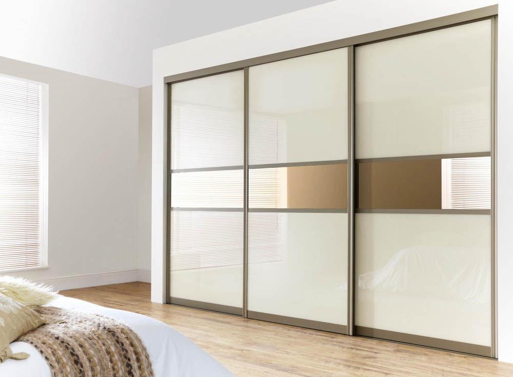 встроенный шкаф купе в спальне из мдф