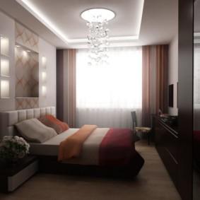 спальня 10 кв метров мебель