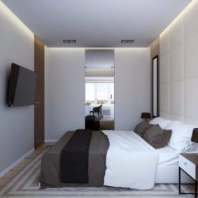 спальня 10 кв метров со шкафом купе