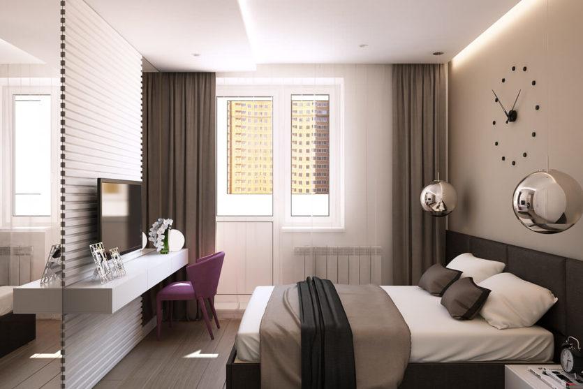 спальня 10 кв м современный дизайн