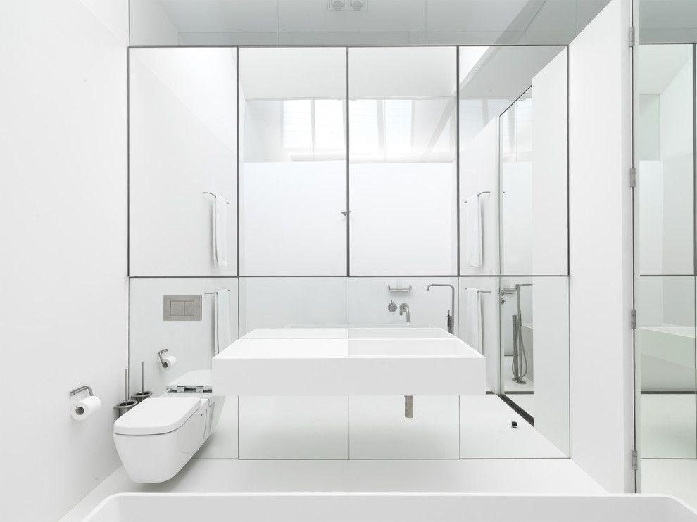 зеркало в ванной минимализм
