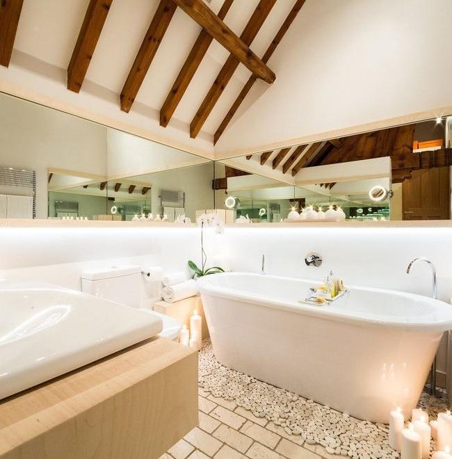 зеркало прованс в ванной