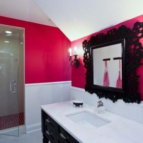 зеркало в ванную с рамой