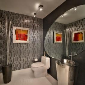 зеркало в ванную овальное