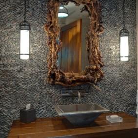 зеркало в ванную в необычной раме