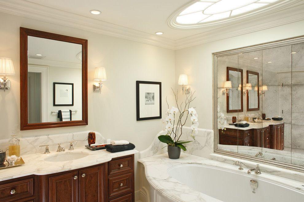 большое зеркало в ванную