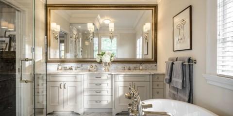 зеркало в ванную длинное