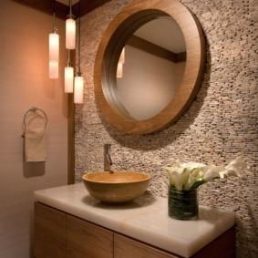 зеркало в ванную круглое