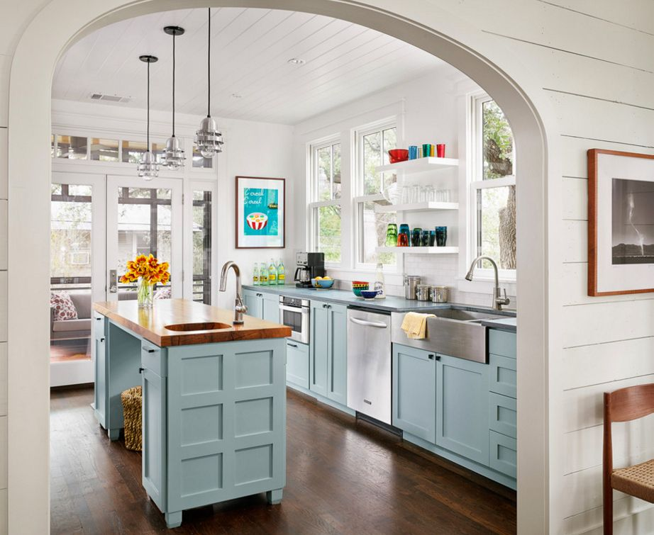 арка вместо двери на кухне