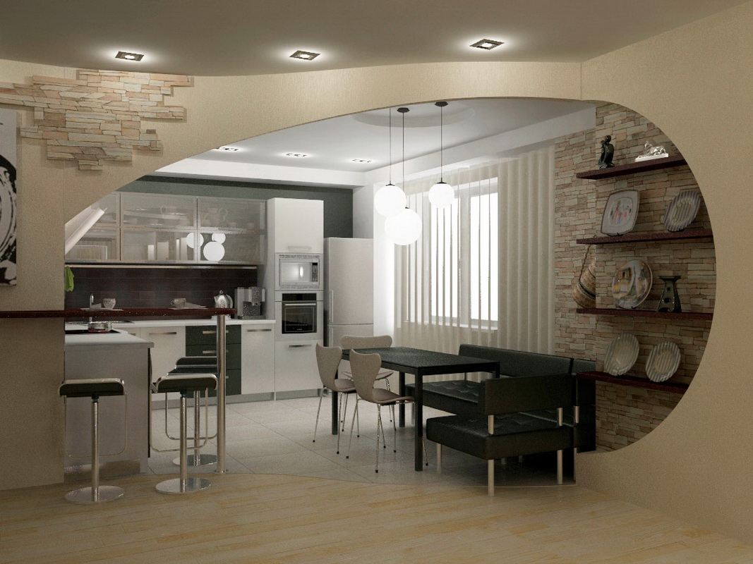 арка на кухне вместо двери варианты