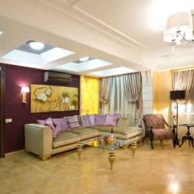 Керамический пол в квартире-студии