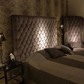 Темная спальня в стиле арт деко
