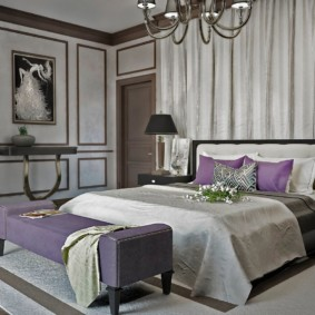 Оформление спальни в стиле арт деко